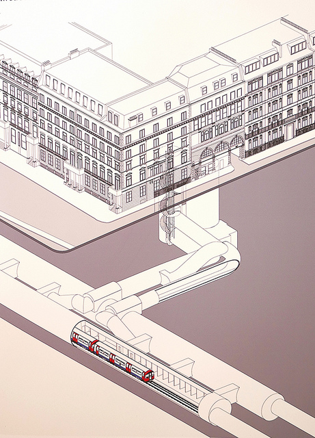 Down Street Underground Station schematic