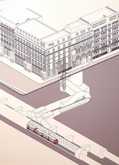 Down Street Underground Station schematic