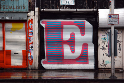 Graffiti Letter E