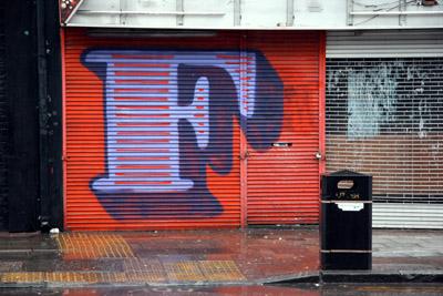 Eine letter F graffiti