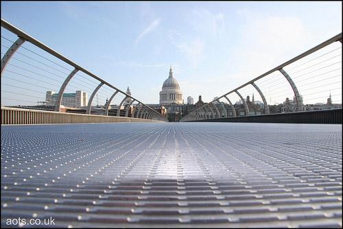 empty millennium bridge