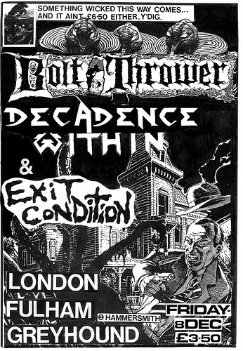 Bolt Thrower, Exit Condition, Decadence Within gig flyer