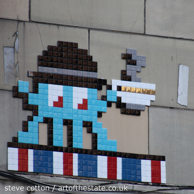 Invader Shoreditch
