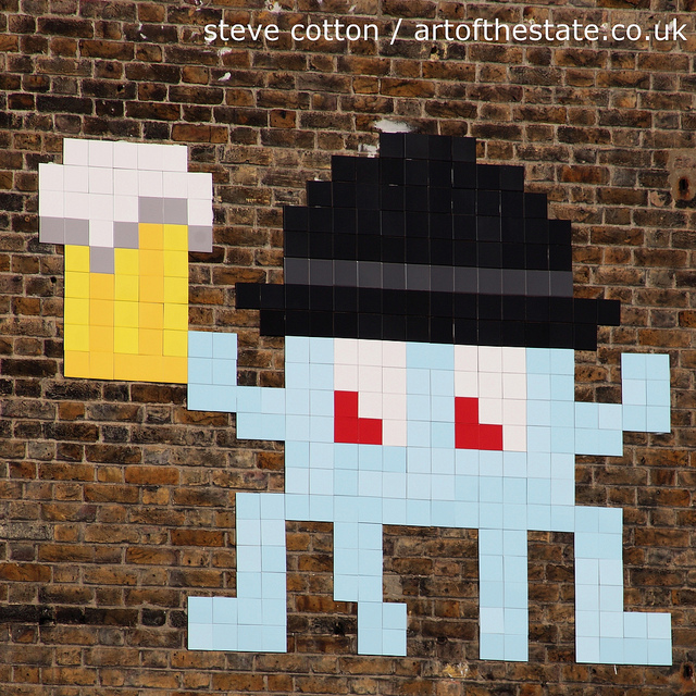 Invader with beer