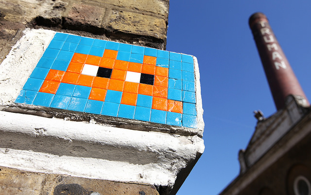 Invader in Brick Lane