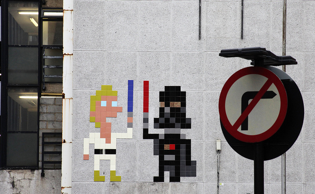 Invader - Star Wars piece in Shoreditch
