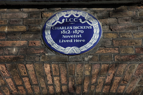 LCC Charles Dickens Plaque