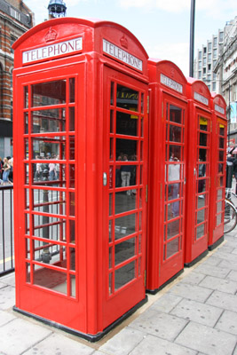 British / London Telephone boxes