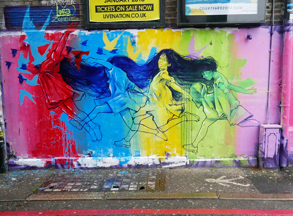 Lora Zombie street art in London