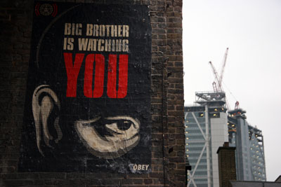 Big Brother Is Watching You - Shepard Fairey