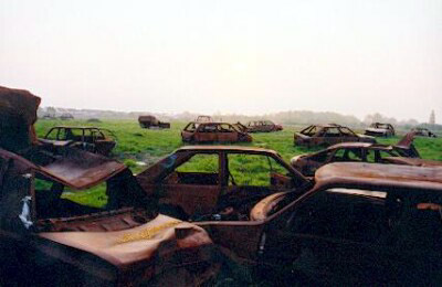 car graveyard, bedfont lakes, bedfont