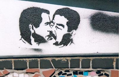 Stebcil Graffiti photo of George Bush and Saddam Hussein