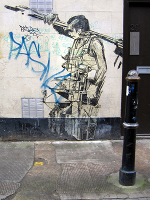 Poster graffiti by Swoon