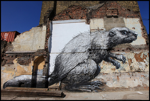 Roa Beaver - Hackney Road