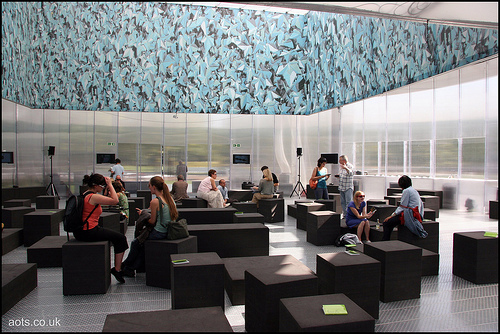 Inside the Serpentine Gallery Pavilion 2006