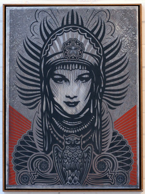 Peace Goddess - Shepard Fairey.