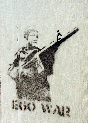 Stencil Graffiti Ego War