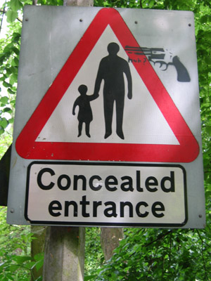 huh? gun stencil