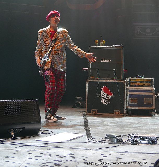 Captain Sensible, guitarist with The Damned