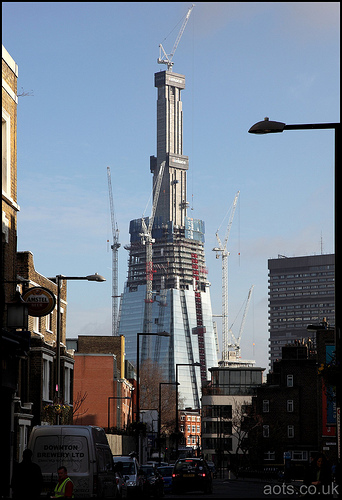 The Shard construction - London