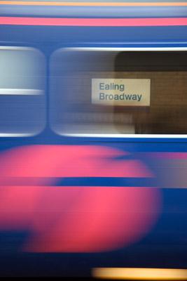 Train carriage blur