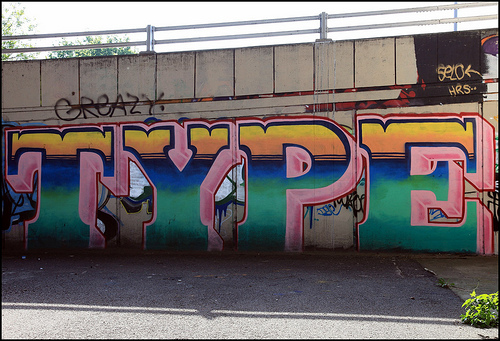Type graffiti lettering
