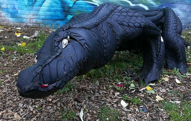 Tyre Sculpture