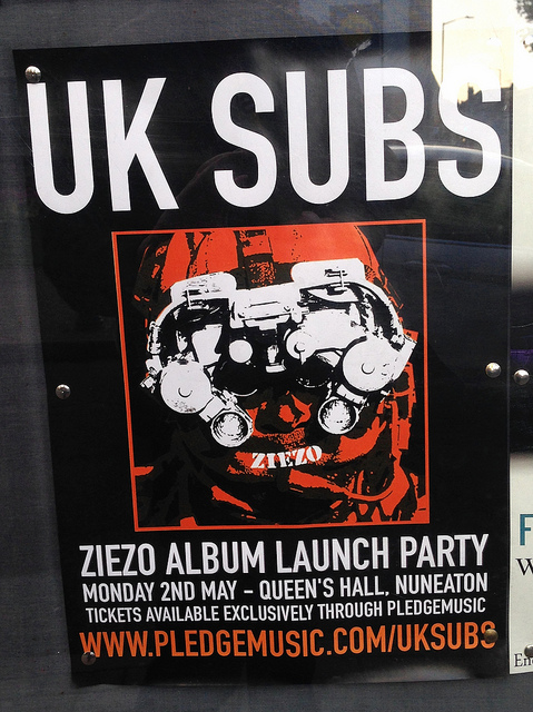 UK SUBS - Nuneaton Ziezo album launch