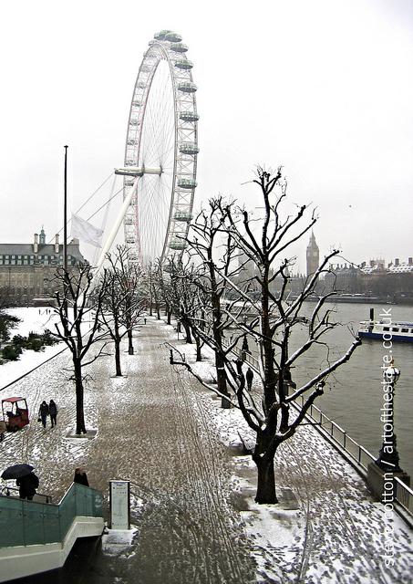 London South Bank Snow