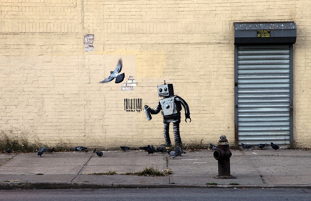 Banksy New York Robot