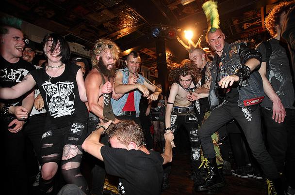 Punk rock crowd