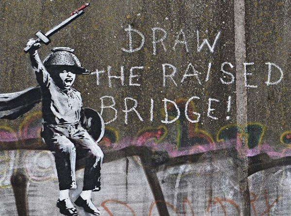 Banksy - Draw The Raised Bridge