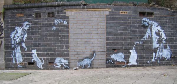 Arofish stencil, Southwark