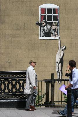 Banksy Window Lovers