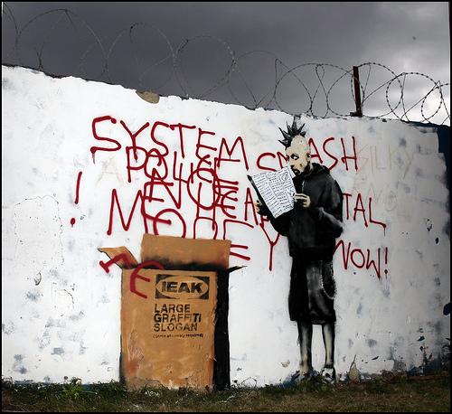 Banksy _ Large Graffiti Slogan, Croydon