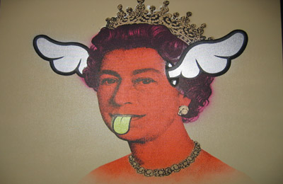 """D*Face """"Dog Save the Queen"""" canvas"""