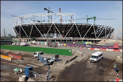 London 2012 Olympic Stadium construction