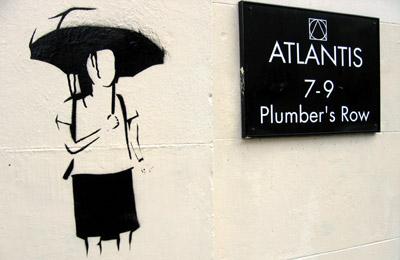 Umbrella Stencil graffiti