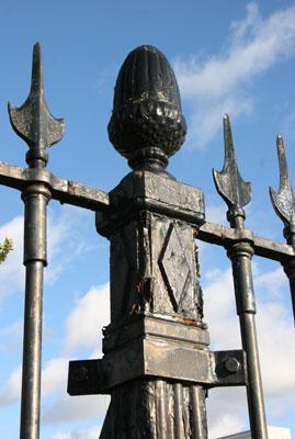 Art Deco fence post