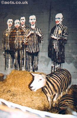 Banksy - concentration camp sheep