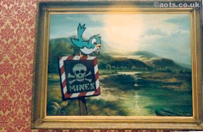 Banksy - Mines Modified oil painting