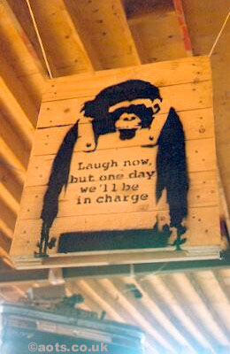 Banksy - Laugh now but one day we'll be in charge