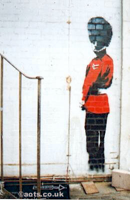 Banksy - Coldstream guard urinating
