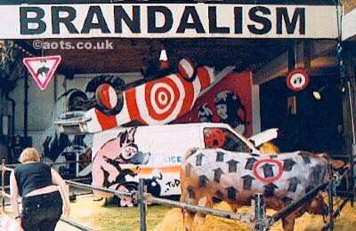 Banksy Turf War protestors