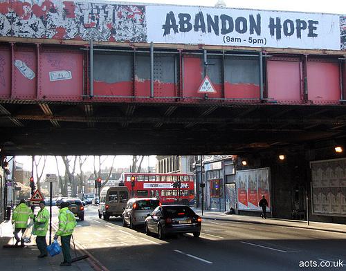 Banksy Abandon Hope