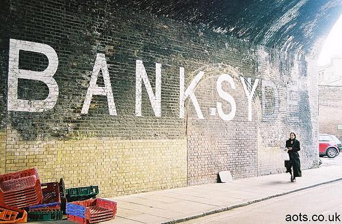 Banksy Bankside _ London South Bank Graffiti