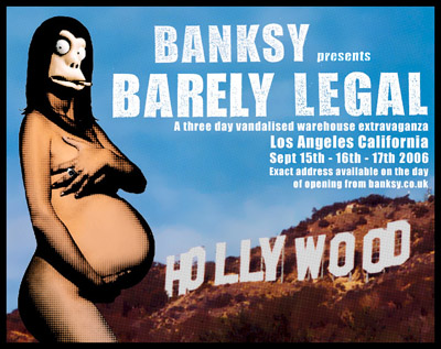 Banksy Barely Legal show Los Angeles