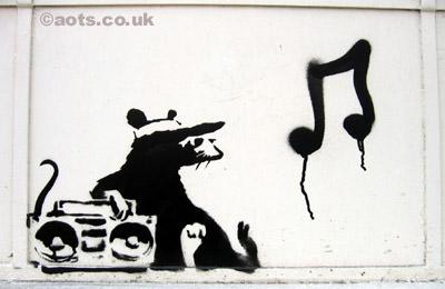 Banksy Rat, Whitechapel area