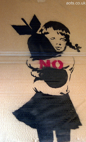 Banksy Bomb Love Stop The War Photo