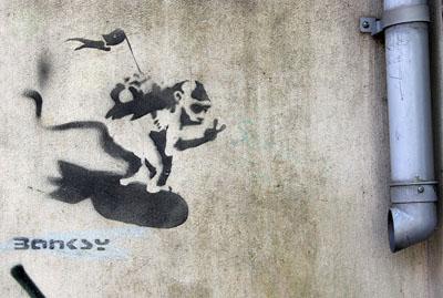 Banksy Monkey Bomber